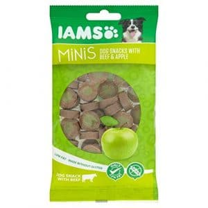 Iams Minis Dog Treats avec Beef & Apple 100g