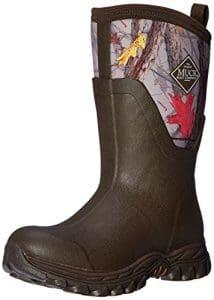 Muck Boots Arctic Sport Mid Slip Rubber Exterior Resistant Rugged Neoprene Fleece Brown W11