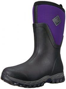 Muck Boots Arctic Sport Mid Warm Fleece Resistant Slip Black Purple Rubber Exterior W10