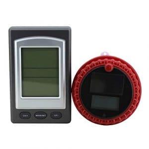 Thermomètre sans fil pour spa de piscine avec flotteur intérieur et extérieur à énergie solaire 433MHZ avec réveil