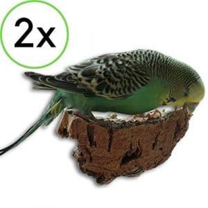 2x morceaux de liège pour oiseaux La délicieuse alternative à la pierre minérale ou l'os de seiche