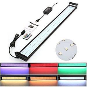 Amzdeal Lampe étanche à LED pour aquarium et bassin avec télécommande 144 granos de la lámpara