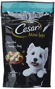 Cesar Chien Snack pour Chien friandises Mini-Joys avec Fromage et bœuf, Lot de 6(6x 100g)