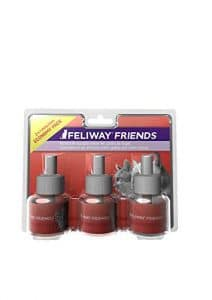 Ceva Feliway Friends Pack de 3 Recharges Décontractant pour Chat 48 ml