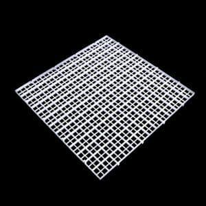 Dabixx Aquarium Isolation intercalaire filtre Patition Tableau Net intercalaire support kit Ventouse, Plastique, blanc, 1 Set(30×30 cm)