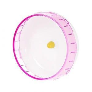 Decdeal Roue d'exercice pour hamster souris gerbille Ratsilent Spinner PP Exécuter Disc pour petit animal jouet pour animaux