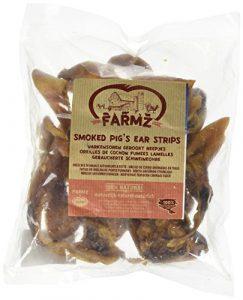 DUVO+ Oreille de Cochon Fumé Strips pour Chien 250 g – Lot de 4