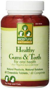 Ecopure dents saines gencives et comprimés à mâcher, 60Ct