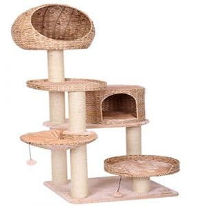 FELICIGG Une Corde de sisal Naturel Cathead Cat Toy Cat Tree Cat Toys, Fournitures pour Animaux de Compagnie (Color : Beige)