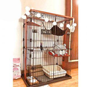 FELICIPP Cage de Chat Cage de Chat Villa de Chat Trois Couches Cage de Chat (Color, Size : S)