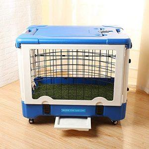 FELICIPP Cage pour Chien Portable, Cage pour Chien, Pliage Multifonctions avec clôture pour Cage (Color, Size : 91 * 71 * 61cm)