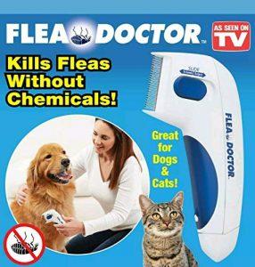 Flea Doctor,outil électrique de capture de nettoyage de chien de compagnie de retrait de poux de tête de peigne de brosse électrique