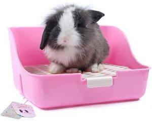 Mkouo Pot carré Boîte de litière d'angle Parure de lit Pet Poêle pour petit animal/Lapin/cochon/Galesaur/furet (couleur aléatoire) ¡