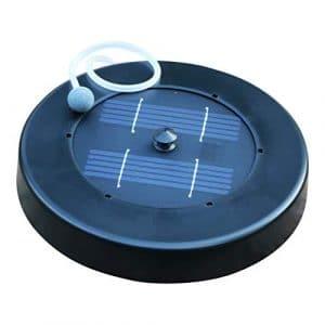PK Green Aérateur Solaire pour étang – Pompe à air à oxygène Flottant pour Jardin, Poisson, 1 kit en Pierre