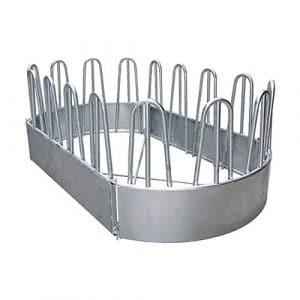 Ratelier ovale, 16 places, 3,45×1,90m,avec barres de renfort – 303540