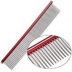 Yunqi durable Pets droites Peigne léger en acier inoxydable pour chien chat Cheveux Toilettage Outil