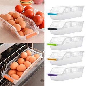 ATezi Stockage de Cuisine 1Pc, Support de Support de réfrigérateur Support de Stockage économiseur d'espace Organisateur de glissière d'étagère de Support