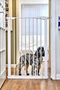 CALLOWESSE Enfant&Pet Gate Extra-Haut 75-82 cm x 110 cm – Pression Fit (Blanc)