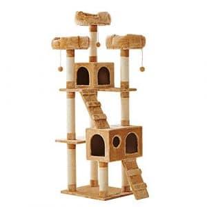 DS- Jouets pour Animaux 2019 Nouveau nid de Chat Grand Arbre Arbre Chat Villa de Luxe Chat nid d'animal de Compagnie – 3 Couleurs && (Couleur : Beige)