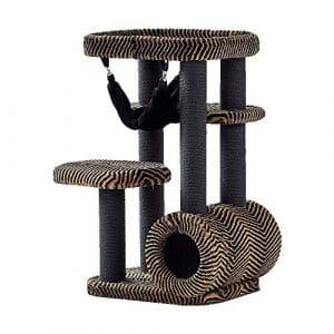 DS- Jouets pour Animaux Été de Luxe Grand Arbre à Chat nid de Chat Jouet pour Animaux de Compagnie Chat Saut Plate-Forme Chat Tunnel avec hamac Arbre à Chat &&
