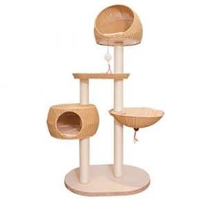 DS- Jouets pour Animaux Été et Hiver de Luxe Multi-Couche Arbre à Chat en rotin Jouet pour Chat Chat sautant Plateforme nid de Chat en sisal &&
