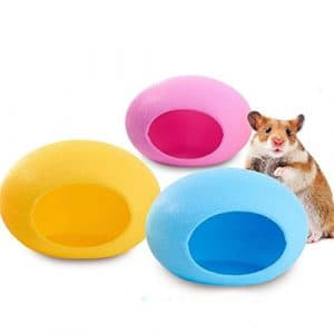 iodvfs Plastique Mini Animal de Compagnie Maison de Couchage, Lovely Forme d'œuf Nid de Hamster Cottage pour Petits Animaux