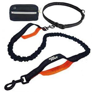 Laisse Main Libre pour Chien Ezee Paws | Élastique et Étirable jusqu'à 2 Mètres | Idéale pour le Jogging et la Marche à Pied | Convient à Tous les Chiens d'un Poids Maximal de 70kg