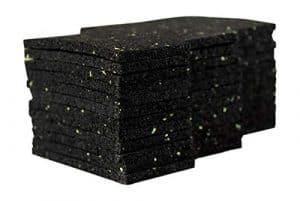 Lot de 36 patins de terrasse 6 mm en granulés de caoutchouc