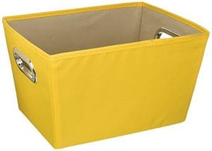 Medium Decorative Storage Bin 15.75″X13″X10.8″-Yellow