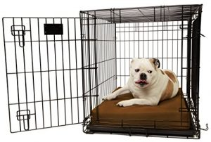 Orthopedic 4 Dog Crate Pad by Big Barker – 36 x 24. Waterproof & Tear Resistant. Thick, Heavy Duty, Tough, Washable Cover. Luxury Orthopedic Support Foam inside. Made in USA. Sized to perfectly fit inside a 36 x 24 crate. by Big Barker