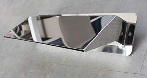CASCADES-INOX Lame d'eau Bec Largeur 50cm / Embase Murale : 56cm par 13cm