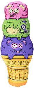 Fat Cat Kitty Kickz Cône de crème de souris jouet pour chat