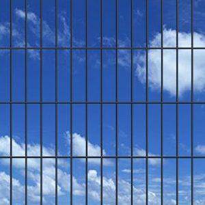 Festnight Jeu de Panneau et Poteau de clôture pour Jardin Design Simple et Pratique 2008×2030 mm 50 m