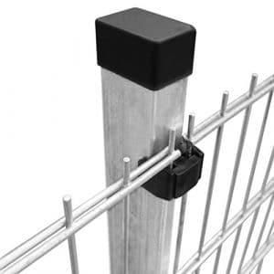 Festnight Panneaux et poteaux de clôture 2D 2008×2230 mm 42 m dans Le Jardin