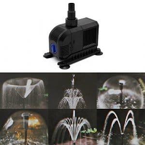 Forever Speed Pompe de fontaine Jeu d'eau Pompe pour bassin Fontaine Pompe à eau fontaine pompe de jardin pompe ruisseau 3000L/h