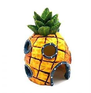 Geagodelia Décoration Maison Ananas pour Aquarium Fish Tank Aquatique Ornement Bob l'éponge Poisson