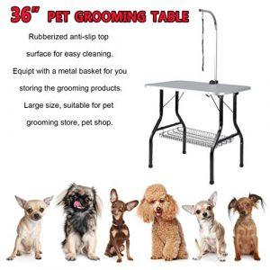 Generic Table de toilettage Portable et Pliable pour Animal Domestique Pliable et réglable
