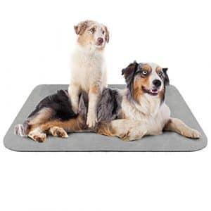 Hero Dog Coussin pour Chien Grande Taile Lavable, Tapis Panier de Antidérapant 120×85 cm, Doux Couverture Chien (Gris, XL)