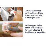 Loopunk Coupe-Ongles pour Animal Domestique Chat Chien Ciseaux avec lumière LED