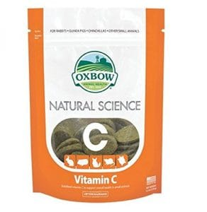 Oxbow Natural Science 60ct Vitamin C Supplement Little Animal Gerbil Hamster