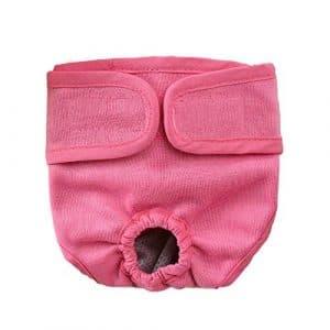 Roblue Pantalons Sanitaires Culottes Hygiéniques Couches pour Moyen Grand Chien Animaux Lavable XS-XL