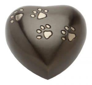 Urns UK Hertford Urne funéraire en forme de cœur pour animal de compagnie 12,7 cm