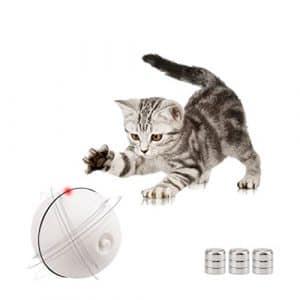 Wanfei interactif Jouets pour Chat, automatique rotatif Boule lumineuse divertissement d'exercice pour chaton et chiot