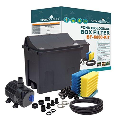 All Pond Solutions EURO-BF-6000-Kit Complet Filtre Biologique de Bassin pour Aquariophilie 6000 L