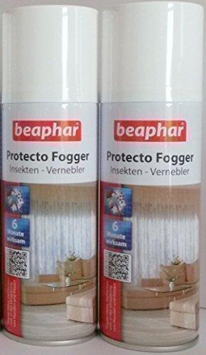 Jeu de 2 Set Beaphar Protecto Brumisateur Insectes nébuliseur Bombe aux puces par 200ml