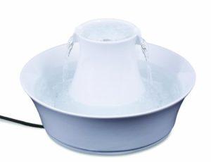 PetSafe – Fontaine à Eau en Céramique pour Chats et Chiens Drinkwell Avalon 2 L – Facile à Nettoyer – Blanc