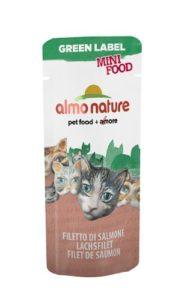 Almo Nature – Complément Almo Nature Green Label Mini Food Au Filet de Saumon Green Label Filet de Saumon