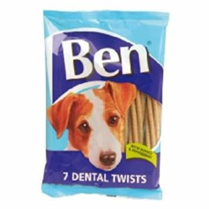 Ben Dog Chews Dental Sticks 7 Pack