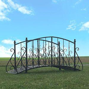 chemin_de_campagne Grand Pont Passerelle Fer Metal Jardin Ruisseau 250 cm