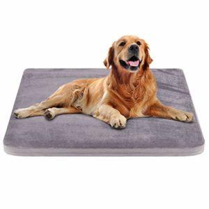 Grand lit pour chien Crate Pad Tapis pour chien Matelas pour animaux de compagnie Coussin en mousse avec housse lavable antidérapante 39.37 «